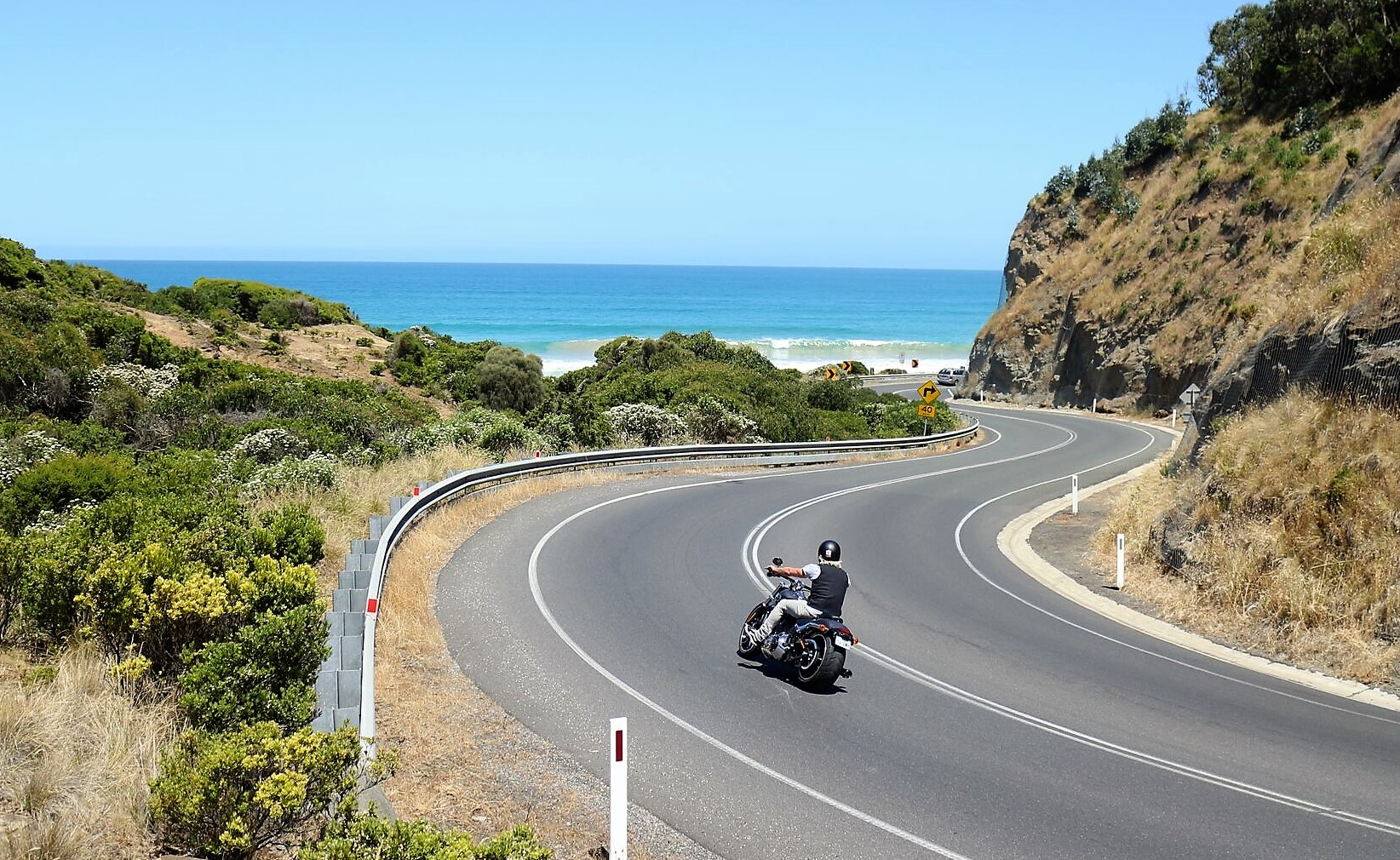Motorcycle on Great Ocean Road