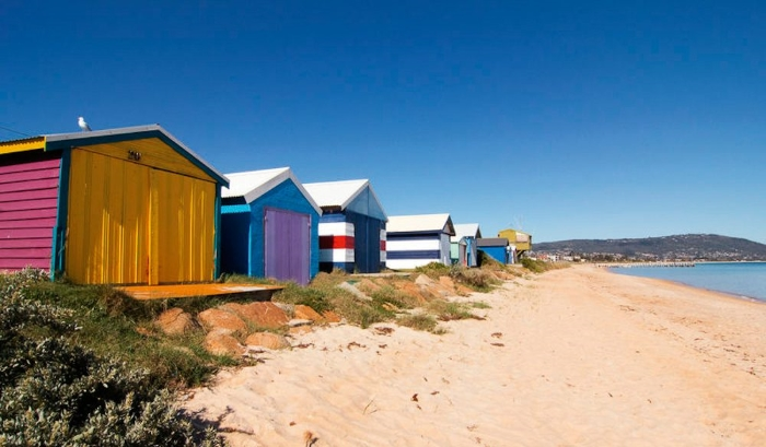 Beach Boxes at Safety Beach Victoria