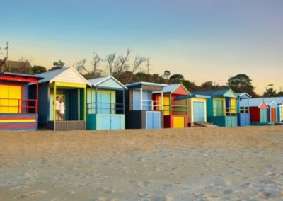 beach boxes at Sorrento