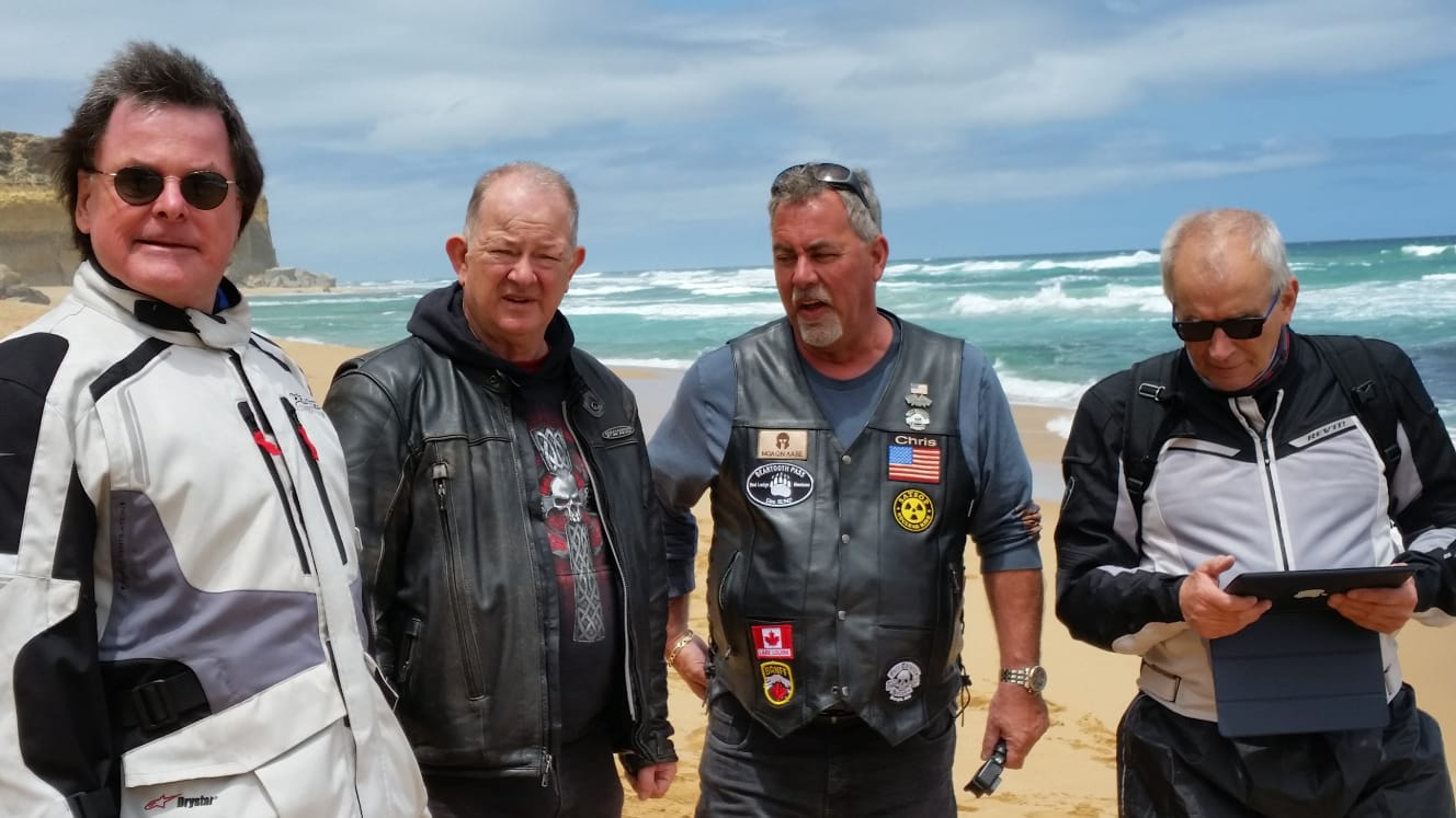 The boys on a Self-Drive Motorcycle Tour Great Ocean Road